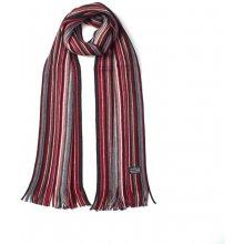 179f29b57e8 Fraas pánská vlněná šála s třásněmi pruhovaná červená 180 25
