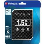 """VERBATIM Store Go 1,5TB, 2,5"""", USB 3.0, 53226"""