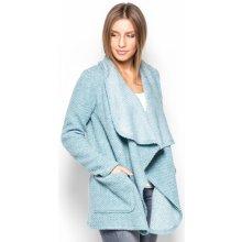 Katrus Dámský krátký kabát z vlněné směsi K408_blue