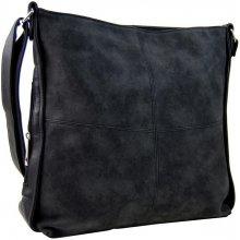 Tapple Velká černá dámská crossbody kabelka s bočními kapsami H17151 Černá