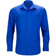 James   Nicholson pánská košile s dlouhým rukávem JN642 Královská a6164e4408