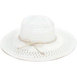 Art of Polo Dámský bílý letní klobouk se zlatou mašlí cz16109.1 ... 0684e0604e