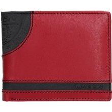 f90c0cb5ea9 Lagen Pánská kožená peněženka Elliot černo-červená