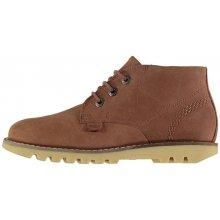 Kickers Kymbo Chuk Boots tan leather