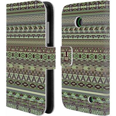 Pouzdro HEAD CASE NOKIA LUMIA 630 / LUMIA 630 DUAL Indiánský vzor GREEN zelená