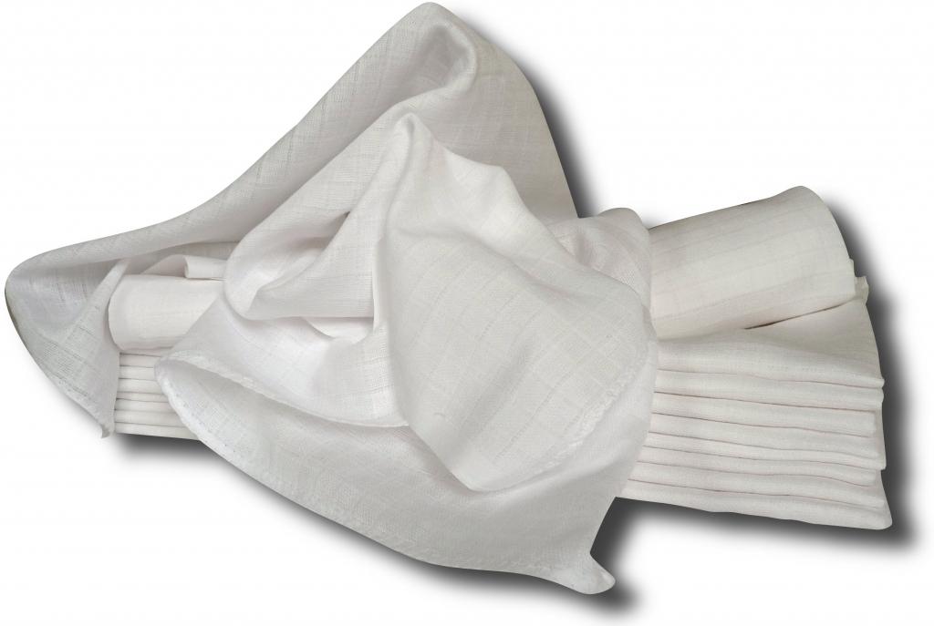 LTZ bílé bavlněné pleny 70x70cm 10ks