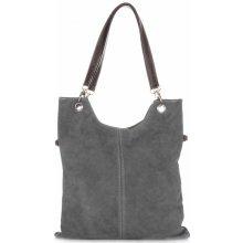 kožené kabelky šedá