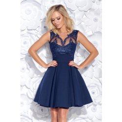 0dbf72e6fbf9 Dámské koktejlové šaty s krajkovým živůtkem modrá alternativy ...