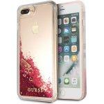 Pouzdro Guess Liquid Glitter Raspberry Apple iPhone 7/8 Plus GUHCI8LGLUFLRA