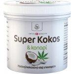 Herbamedicus kokosový olej Super Kokos s konopím pleťový 2 x 150 ml