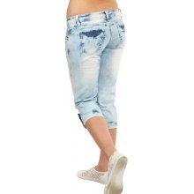 TopMode Dámské džínové 3 4 kalhoty modrá 87fa075722