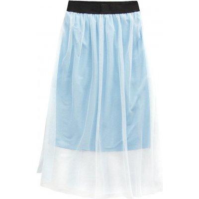 Prodyšná sukně s délkou midi 96ART modrá