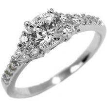 Stříbrný zásnubní prstýnek se Swarovski Zirkony EWER02976