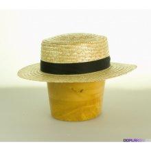Pánský klobouk sláma s rovnou hlavou originál 5a29053692