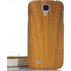 Pouzdro na mobilní telefon Pouzdro SES Obal pro Samsung Galaxy S4 mini i9195 s imitací dřeva dub