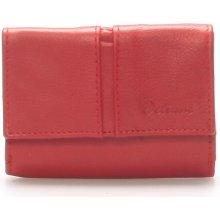 Delami Kožená červená peněženka 9386 červená