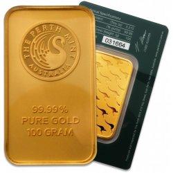 Perth Mint Zlatý slitek 100 g