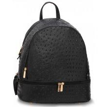 Anna Grace elegantní batoh s efektem krokodýlí kůže černý 85e9bb706d