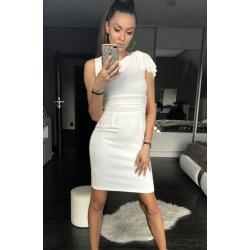 72a0136917b Dámské společenské sexy šaty středně dlouhé bílá dámské šaty ...