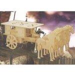 Woodcraft 3D puzzle dřevěná skládačka Povoz GP096