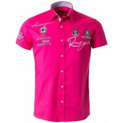 Redbridge pánská růžová Slim Fit košile s výšivkami   Fuchsia ... 61dc8b7199