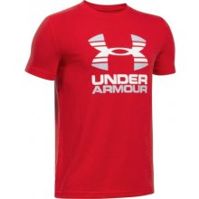 Under Armour Two Tone Logo SS T Red Glacier Gray White