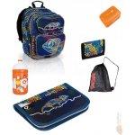 Tříkomorový školní batoh CHI 602 D chameleon blue + penál chi 614 d + peněženka + univerzální sáček HIT 142 A + láhev na pití + box (doprava zdarma), Topgal
