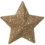 Dekorace SHISHI - hvězda zlatá - SHISHI