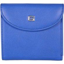 GIUDI dámská modrá kožená peněženka 6470/VLV,