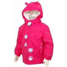 Bugga zimní bunda se zvířátky růžová