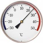 Apator Nástěnný bimetalový teploměr -30 až +50 °C, průměr 120 mm