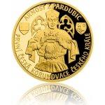 Česká mincovna Zlatá čtvrtuncová mince Arnošt z Pardubic první česká korunovace českého krále 7,78 g