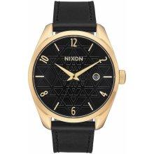 Nixon Bullet Leather - Gold/Black/Stamped