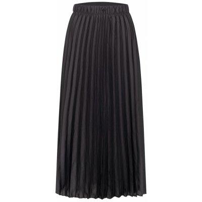 Hailys dámská plisovaná midi sukně Maria černá