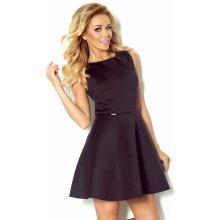 Numoco luxusní dámské společenské a plesové šaty bez rukávu černá 7fb4e4491f0