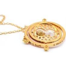 JewelsHall Harry Potter náhrdelník obraceč času přesýpací písek bronz 115