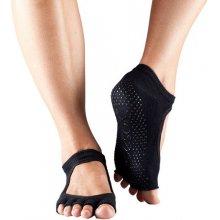 ToeSox Prstové ponožky otevřené Grip Bella Černé