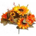 Umělá kytice slunečnic a hortenzií