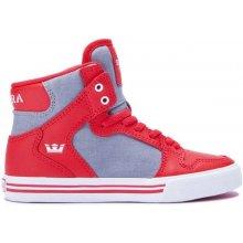 SUPRA - Kids Vaider Red/Dk Grey-White