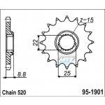 ESJOT Řetězové kolečko 1901 14