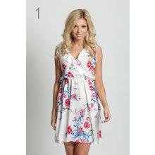 Fashionweek nádherné módní letní vzdušné šaty s květinovým motivem D33 bílá 9e6f09bc98