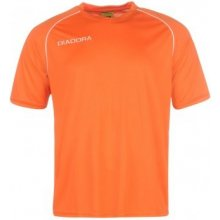 Diadora Madrid T Shirt Mens Orange/White