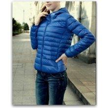 Lehká prošívaná bunda dámská delší 881729602 3 modrá