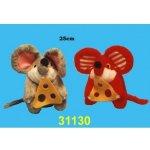 Hamiro myš plyšová se sýrem