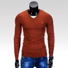 Pánský svetr s výstřihem do V Verel cihlově červený
