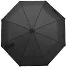 s.Oliver Dámský skládací mechanický deštník Basic Uni black 70865SO22