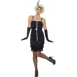 d5bd402ce40 Karnevalový kostým Flapper krátké šaty černé