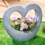 Die moderne Hausfrau Květináč Kamenné srdce 648671