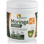 Grenera Raw Moringa organický prášek z listů Moringy PLUS vitamín C 240 g