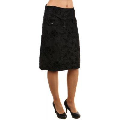 Glara letní midi sukně s květinovým vzorem černá 121745